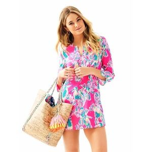 Lilly Pulitzer Pink Oasis Tunic Toucan Can Coverup